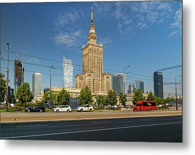 Palace Of Culture And Science In Warsaw Metal Print by Artur Bogacki