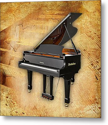 Piano Collection. Metal Print by Marvin Blaine