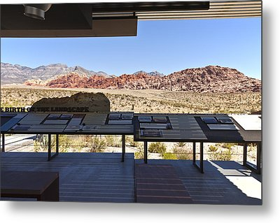 Red Rock Canyon Nevada. Metal Print by Gino Rigucci