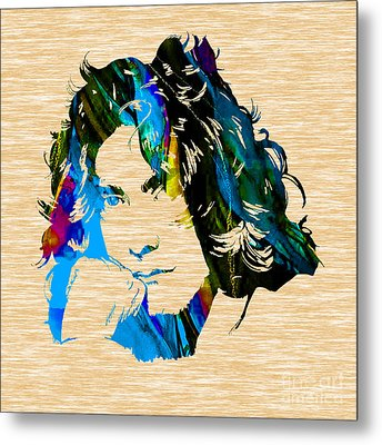 Robert Plant Collection Metal Print by Marvin Blaine