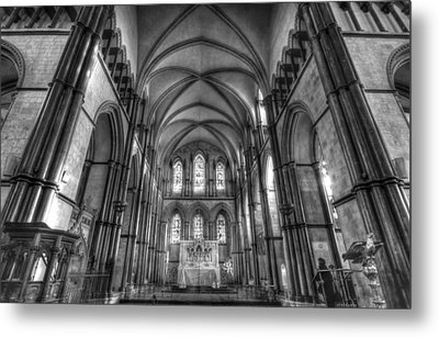 Rochester Cathedral Interior Hdr. Metal Print by David French