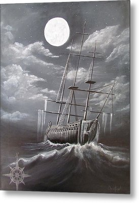 Storm Corrosion Metal Print by Christine Cholowsky