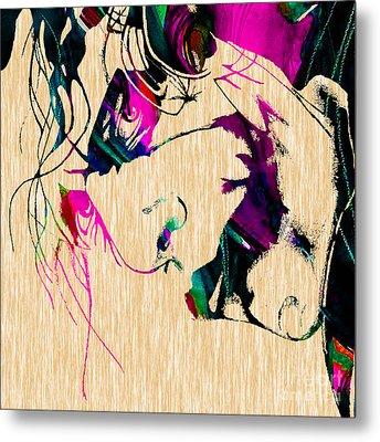 The Joker Heath Ledger Collection Metal Print by Marvin Blaine