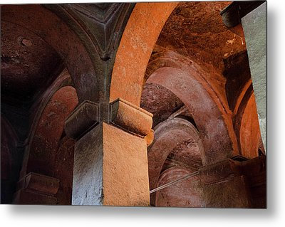 The Rock-hewn Churches Of Lalibela Metal Print by Martin Zwick