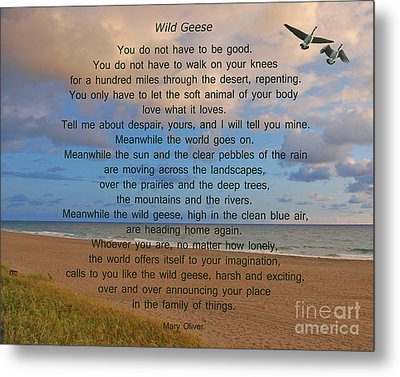 40- Wild Geese Mary Oliver Metal Print by Joseph Keane