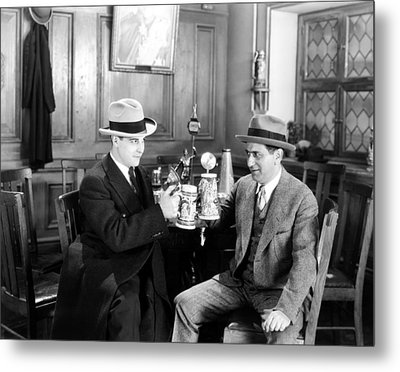 Silent Film Still: Drinking Metal Print by Granger