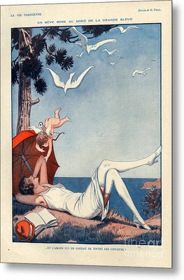1920s France La Vie Parisienne Magazine Metal Print by The Advertising Archives