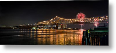 4th Of July Over The Big Easy Part Deaux Metal Print by David Morefield