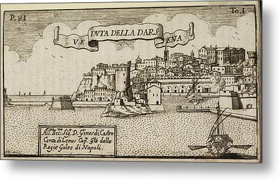 An Illustration Of 18th Century Naples Metal Print by British Library