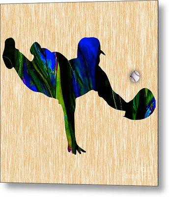 Baseball Metal Print by Marvin Blaine