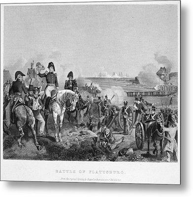 Battle Of Lake Champlain Metal Print by Granger