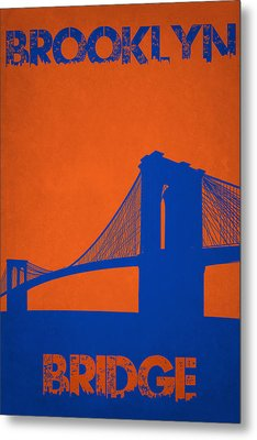 Brooklyn Bridge Metal Print by Joe Hamilton