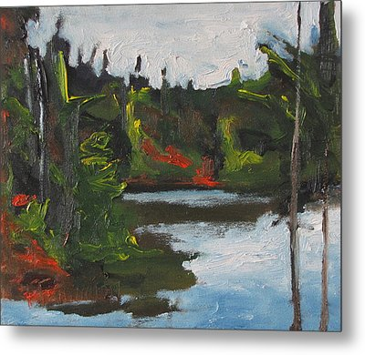 By The Pond Metal Print by Francois Fournier