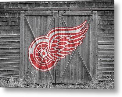 Detroit Red Wings Metal Print by Joe Hamilton