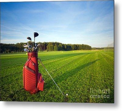 Golf Gear Metal Print by Michal Bednarek
