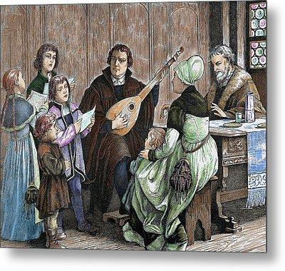 Martin Luther (eisleben, 1483 Metal Print by Prisma Archivo