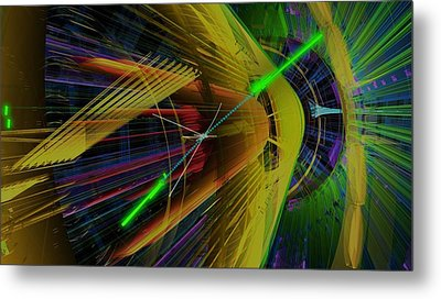 Proton Collision Metal Print by Science Photo Library