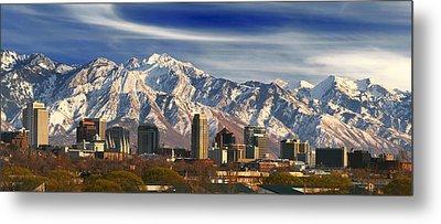 Salt Lake City Skyline Metal Print by Utah Images
