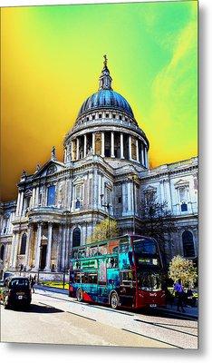 St Pauls Cathedral London Art Metal Print by David Pyatt