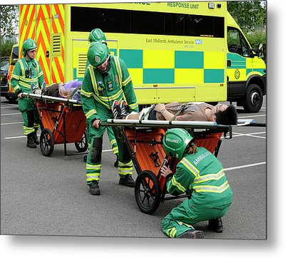 Training Exercise For Major Emergency Metal Print by Public Health England