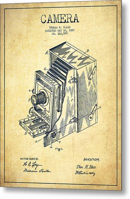 Vintage Camera Patent Drawing From 1887 Metal Print by Aged Pixel