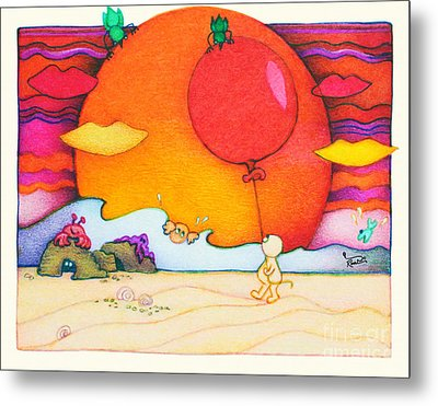 Woobies Character Baby Art Colorful Whimsical Design By Romi Neilson Metal Print by Megan Duncanson