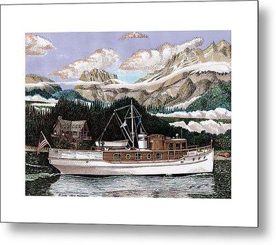 53 Foot Classic Yacht North To Alaska Metal Print by Jack Pumphrey