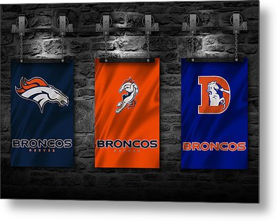 Denver Broncos Metal Print by Joe Hamilton
