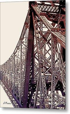 59th Street Bridge - Nyc Metal Print by Linda  Parker