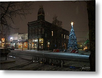 5th And G At Christmas 2012 No2 Metal Print by Mick Anderson