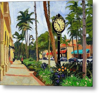 5th Avenue Naples Florida Metal Print by Christine Hopkins