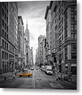 New York City 5th Avenue Metal Print by Melanie Viola