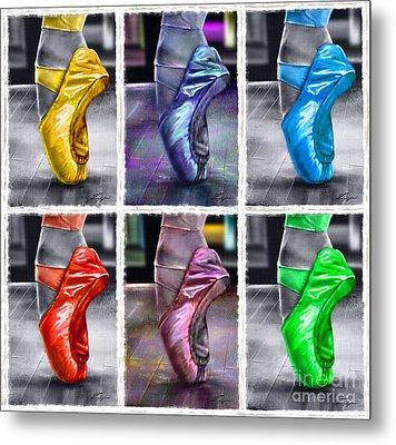 6 Ballerinas Dancing Metal Print by Reggie Duffie