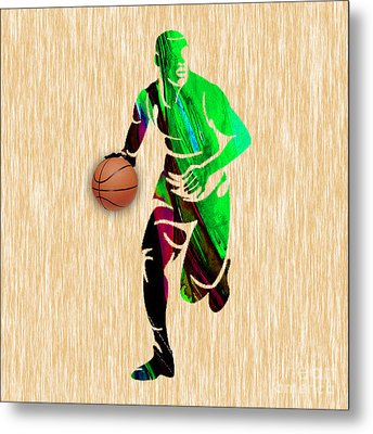 Basketball Metal Print by Marvin Blaine