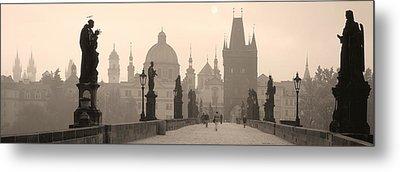 Charles Bridge Prague Czech Republic Metal Print by Panoramic Images