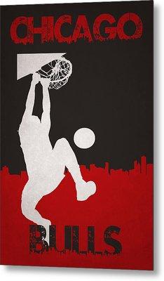 Chicago Bulls Metal Print by Joe Hamilton