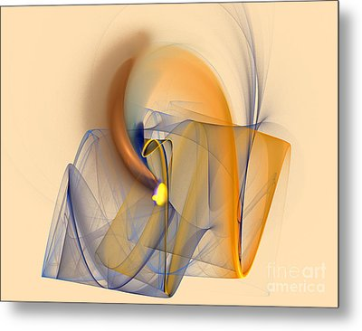 Colorful Abstract Metal Print by Odon Czintos