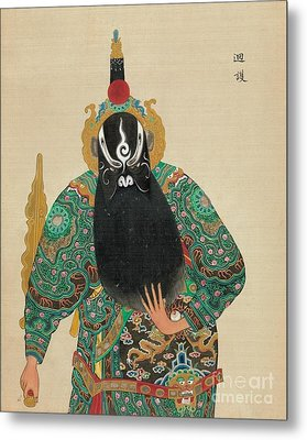 Decorative Asian Art Painting Metal Print by Celestial Images