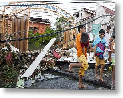 Destruction After Super Typhoon Haiyan Metal Print by Jim Edds