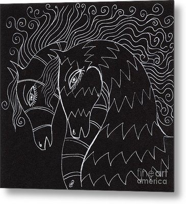 Horses Metal Print by Angel  Tarantella