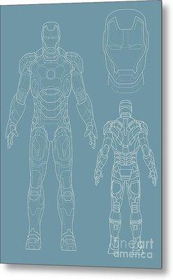 Iron Man Metal Print by Unknow