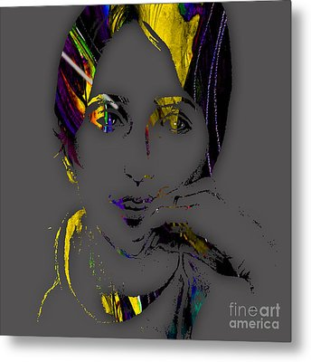 Joan Baez Collection Metal Print by Marvin Blaine