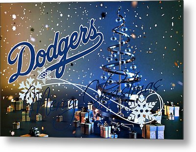 Los Angeles Dodgers Metal Print by Joe Hamilton