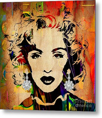 Madonna Collection Metal Print by Marvin Blaine