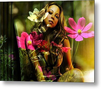 Mariah Carey Metal Print by Marvin Blaine