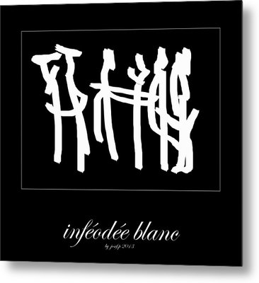 Subservient White Metal Print by Sir Josef Social Critic - ART