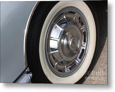 61 Corvette-grey-wheel-9236 Metal Print by Gary Gingrich Galleries