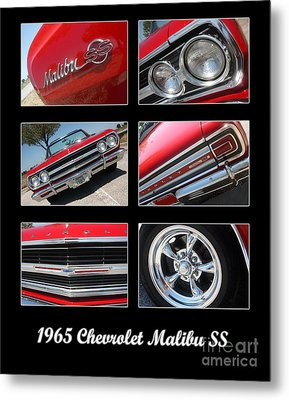 65 Malibu Ss Poster Metal Print by Gary Gingrich Galleries