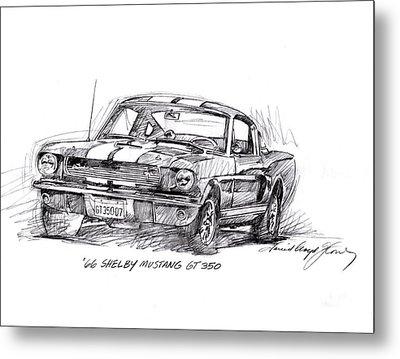 66 Shelby 350 Gt Metal Print by David Lloyd Glover