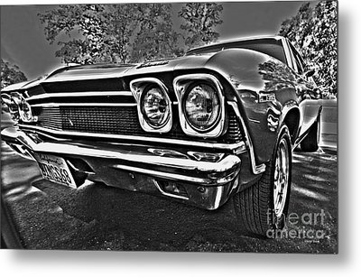 68 Chevelle Metal Print by Cheryl Young